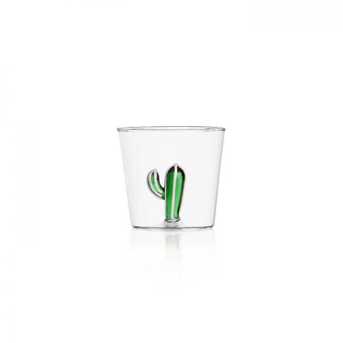ichendorf bicchiere linea cactus vetro e cactus in vetro verde