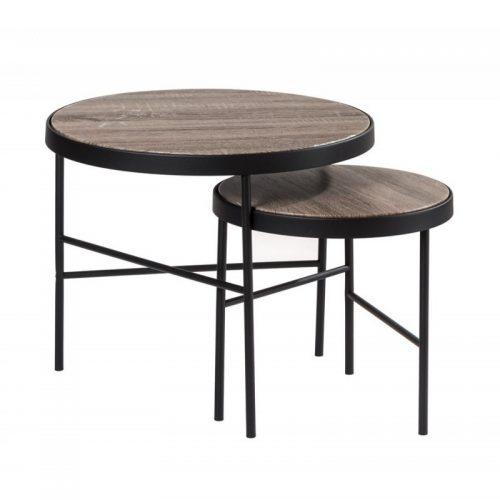 set di due tavolini caffe tondi L'oca Nera