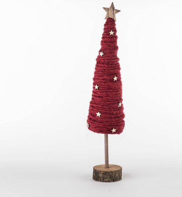 soffici alberelli di natale in lana rosso