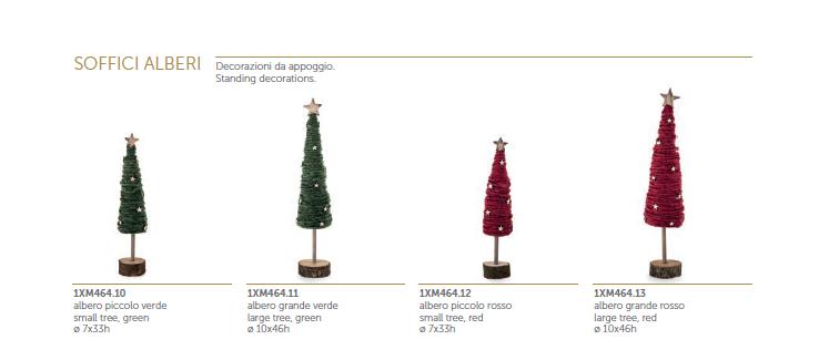 soffici alberelli di natale in lana verde e rosso