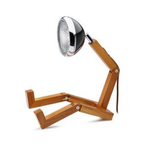 lampada Mr Wattson Piffany in legno di frassino per interni e faro Vespa 1946 nero