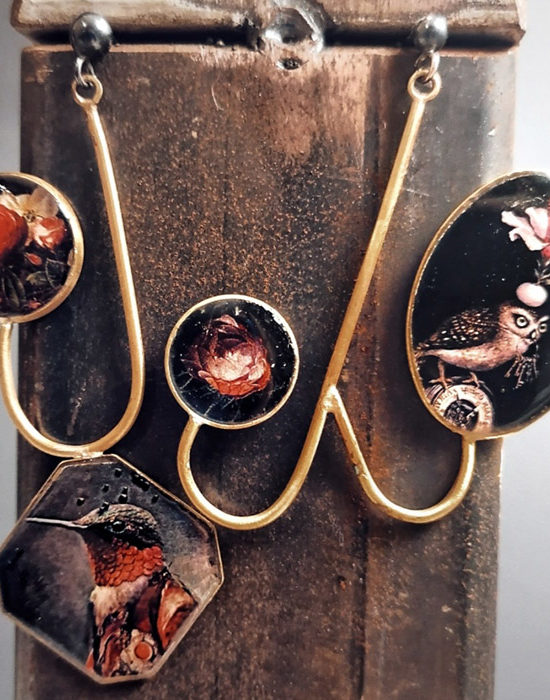 orecchino da donna pezzo unico in ottone lavorato a mano