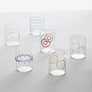 set bicchieri ichendorf decoro arlecchino vetro