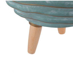 cache-pot basso turchese - L'oca Nera