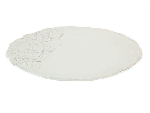 piatto piano bianco linea romantica Virginia Casa