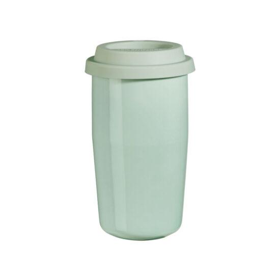 tazzza termica in ceramica riutilizzabile verde salvia