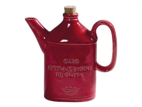 Oliera a forma di Latta rosso - Linea Osteria - Virginia Casa