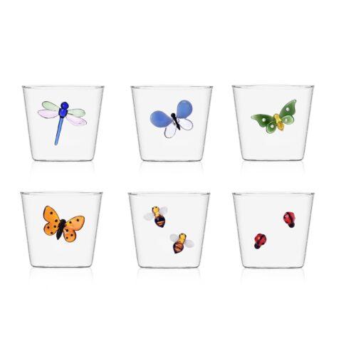 set bicchieri ichendorf decoro garden picnic vetro