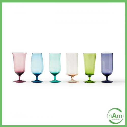 bicchieri da birra tipo calice vetro colorato Bitossi Home Disegual
