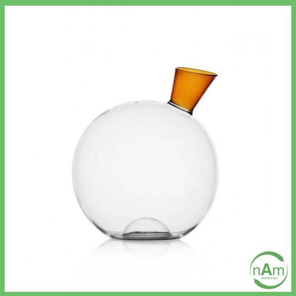 decanter di design per vino ichendorf vetro e beccuccio ambra