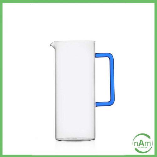 caraffa vetro con manico blu Ichendorf